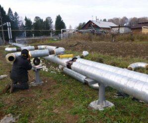 В Чащавите меняют трубопровод